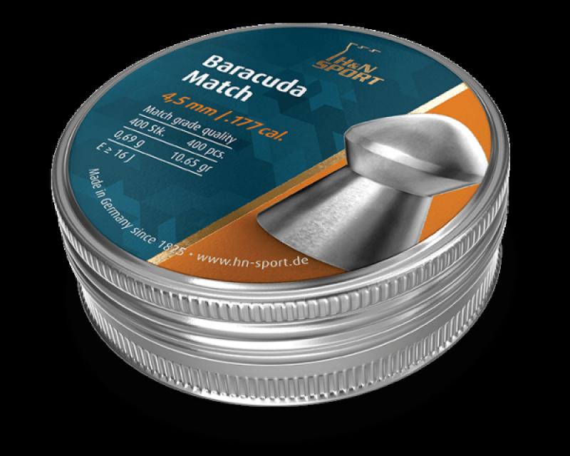 Пули пневм H&N Baracuda Match, 4,52 мм , 0,69 г, 400 шт/уп, пач