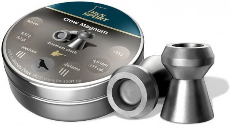 Пули пневм H&N Crow Magnum Diabolo, 500 шт/уп 4,5 мм, пач