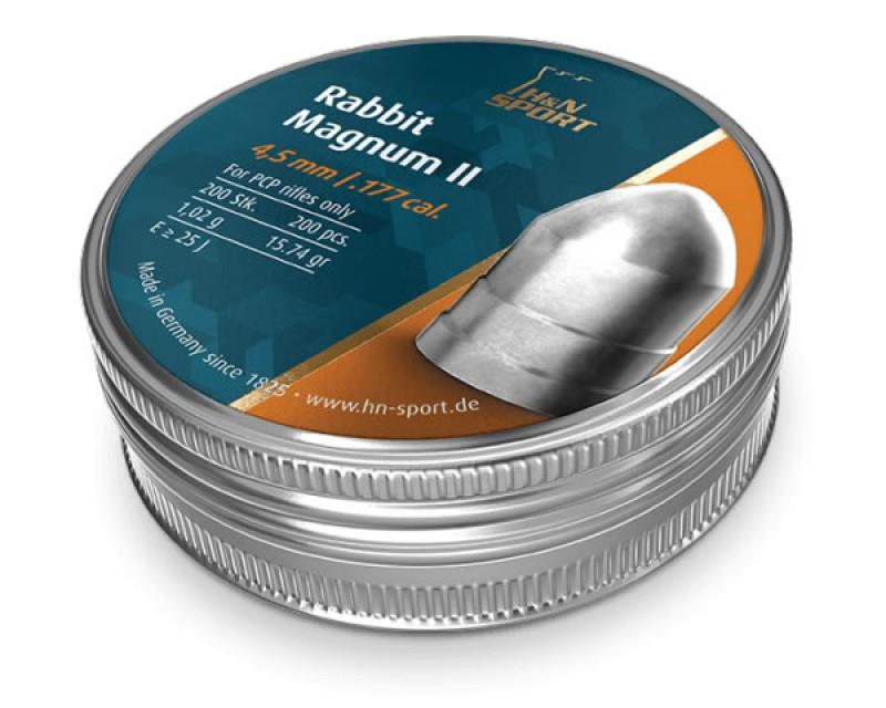 Пули пневм H&N Rabbit Magnum II, 200 шт/уп, 1,00 гр 4,5 мм, пач