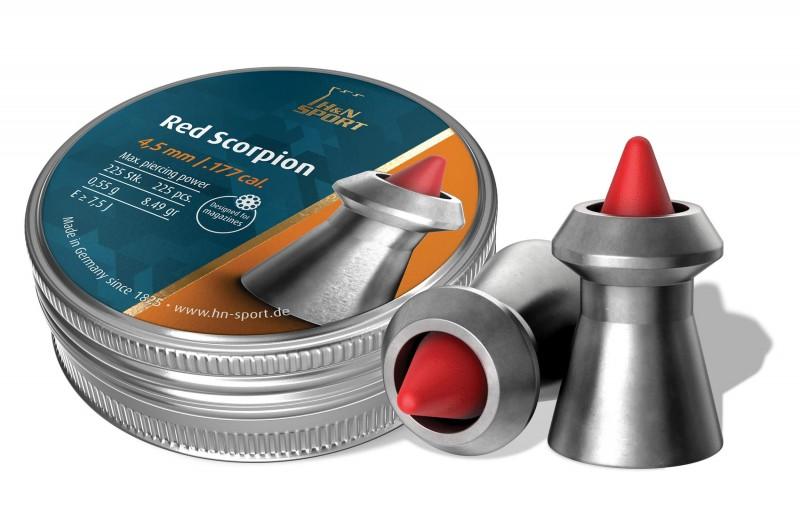 Пули пневм H&N Red Scorpion 225шт/уп 0,54г 4,5 мм, пач
