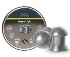 Пули пневм H&N Sniper Light, 500шт/уп, 0,49г, 4,5 мм, пач