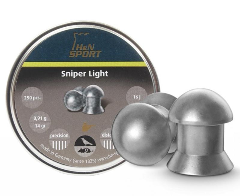 Пули пневм H&N Sniper Light, 500шт/уп, 0,49г, 4,5 мм, пач