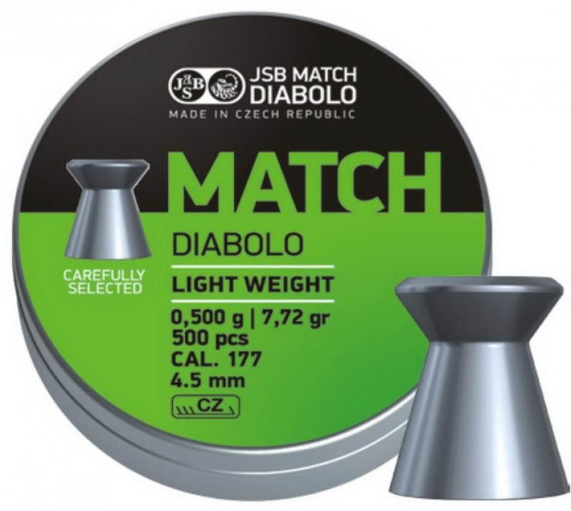Пульки JSB Match Diabolo light 4.51мм, 0.475г (500шт) , 000006-500
