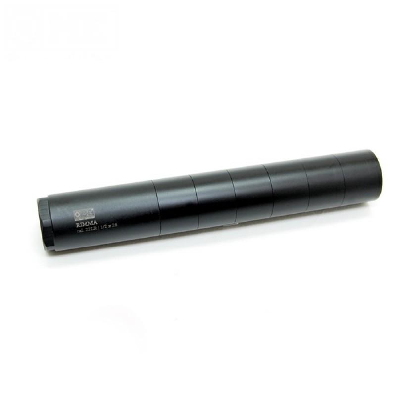 Глушитель ПСУЗВ Rimma кал 22LR доступен в резьбах 1/2x28, 1/2-20, М18х1