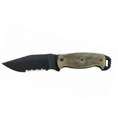 Нож Ontario RD-4, серрейтор, черная микарта