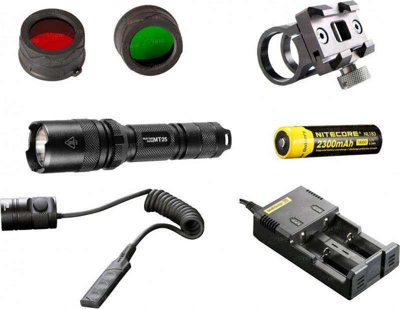Набор тактический Nitecore MT25 Hunting Kit, 390/180/70/20lm