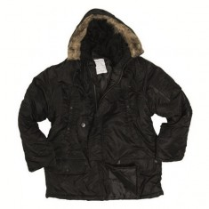 куртка Аляска длин.черн., Ш 10181202