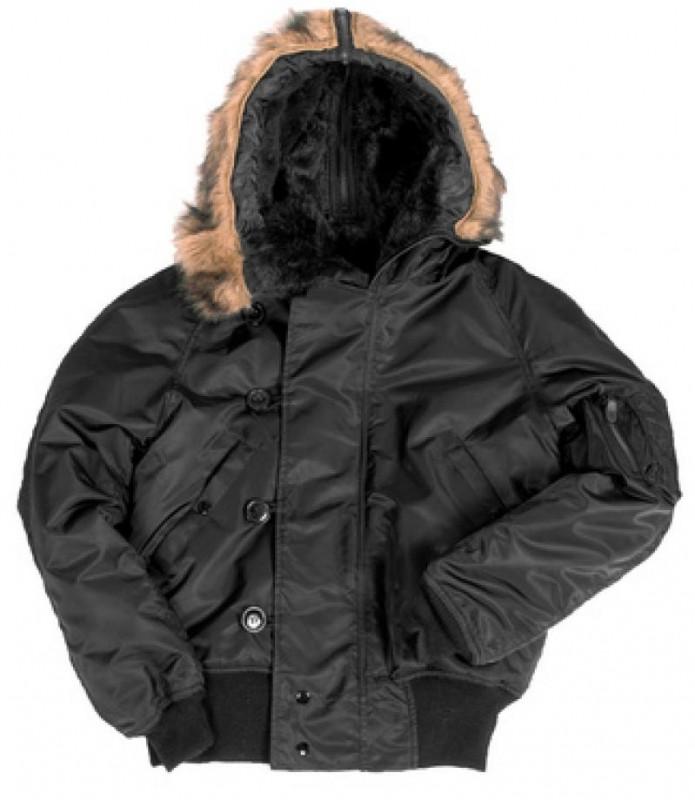 куртка Аляска корот.черн., Ш 10411002