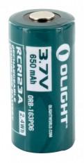 Аккум. батарея Olight RCR 123 Li-ion, 650 mAh