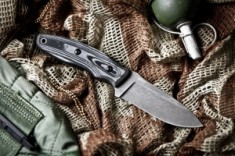 Нож туристический Urban cерный AUS-8, Kizlyr Supreme, KE URB8SW