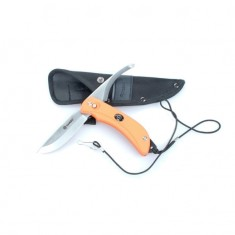 Нож складной туристический Ganzo G802-OR с двойным лезвием, оранжевый