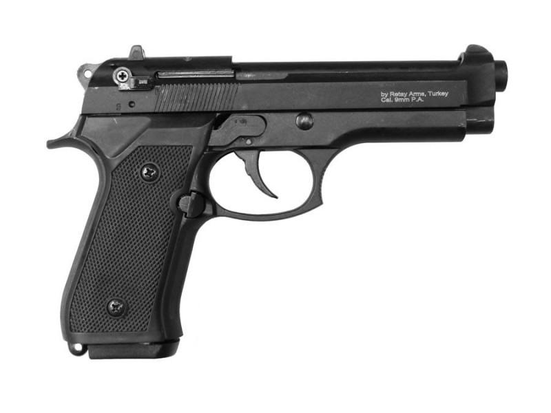 Пистолет стартовый Retay Mod.92, 9мм. Цвет - Black, шт