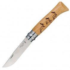 Нож Opinel 8 VRI Олень,дуб