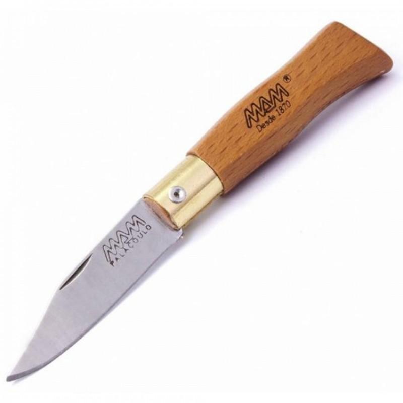 2083 Нож MAM Douro складной карманный, кожаный темляк, шт