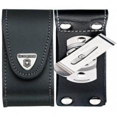 4.0521.31 Чехол Victorinox поясной черный кожаный с метал.клипсой, шт
