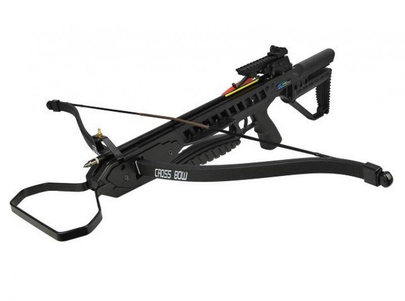 Арбалет Man Kung MK-XB21BK, Рекурсивный, винтовочного типа, пластик. приклад ц:черный