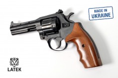Револьвер под патрон Флобера Safari RF-441 cal. 4 мм, буковая рукоятка