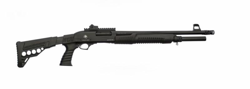 Помповое ружье SAFARI PN 105, 12 кал.,  L=500 мм. 7+1; телескоп, Пикатини